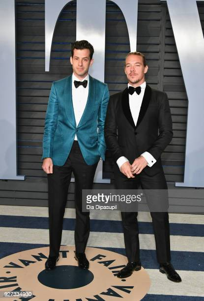 Mark Ronson and Diplo attend the 2018 Vanity Fair Oscar Party hosted by Radhika Jones at Wallis Annenberg Center for the Performing Arts on March 4...