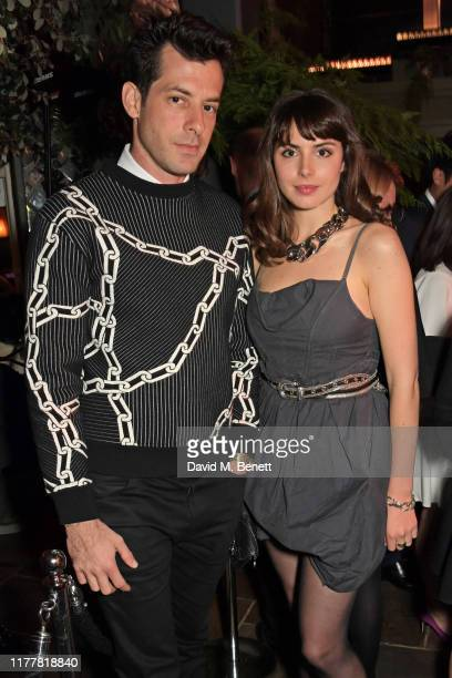 Mark Ronson and Genevieve Gaunt attend an after party celebrating the reopening of the Louis Vuitton New Bond Street Maison at Annabel's on October...