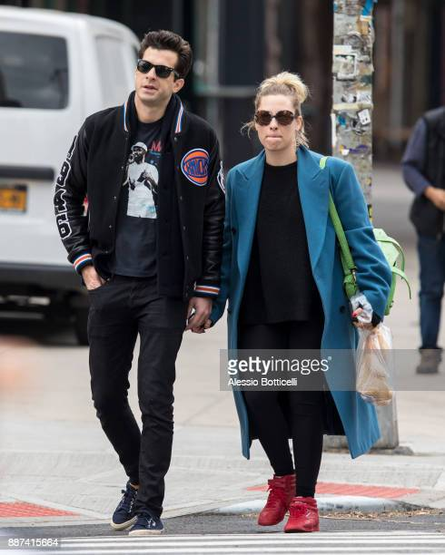Mark Ronson and Josephine de La Baume are seen walking in SoHo on December 6 2017 in New York New York