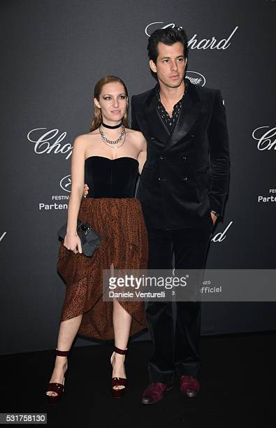 Mark Ronson and Josephine de La Baume attend Chopard Wild Party as part of The 69th Annual Cannes Film Festival at Port Canto on May 16 2016 in...