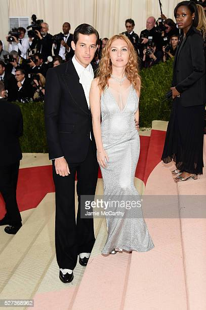Mark Ronson and Josephine de La Baume attend the 'Manus x Machina Fashion In An Age Of Technology' Costume Institute Gala at Metropolitan Museum of...