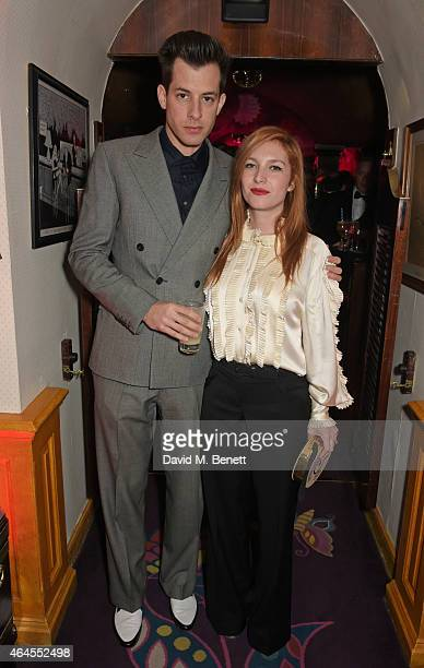 Mark Ronson and Josephine de la Baume attend the Mert Marcus House of Love party for Madonna at Annabel's on February 26 2015 in London England