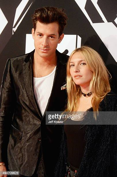 Mark Ronson and Josephine de la Baume attend the MTV EMA's 2015 at Mediolanum Forum on October 25 2015 in Milan Italy