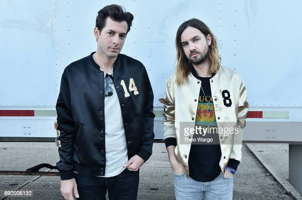Mark Ronson and Kevin Parker during the 2017 Governors Ball Music Festival Day 2 at Randall's Island on June 3 2017 in New York City
