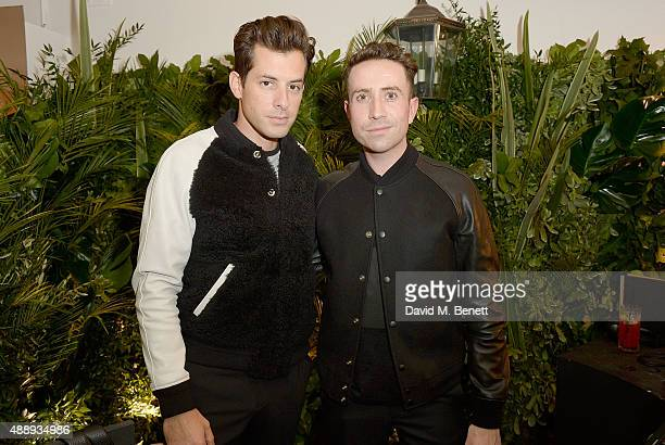 Mark Ronson and Nick Grimshaw at the launch of Coach at Selfridges hosted by Stuart Vevers at Selfridges on September 18 2015 in London England
