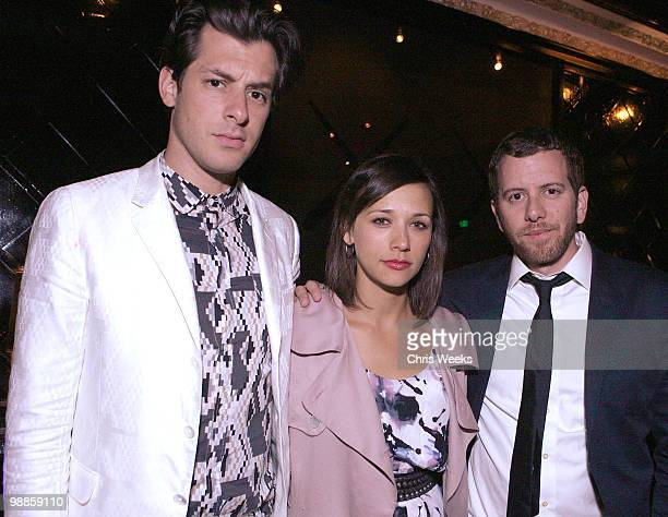 Mark Ronson and Rashida Jones attend the after party for I Heart Ronson Spring Cocktail Jam at Trousdale on May 4 2010 in West Hollywood California