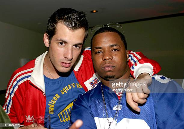 Mark Ronson and Saigon during Mark Ronson's 'Here Comes the Fuzz' Album Release Party at Canal Room in New York City New York United States