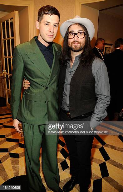 Mark Ronson and Sean Lennon attend the 2013 Amy Winehouse Foundation Inspiration Awards and Gala at The Waldorf=Astoria on March 21, 2013 in New York...