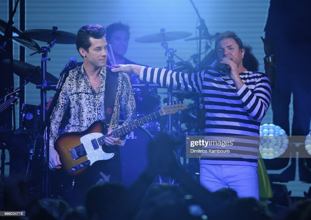 Mark Ronson and Simon Le Bon of Duran Duran Perform Live For SiriusXM At The Faena Theater In Miami Beach During Art Basel on December 9, 2017 in Miami Beach, Florida.