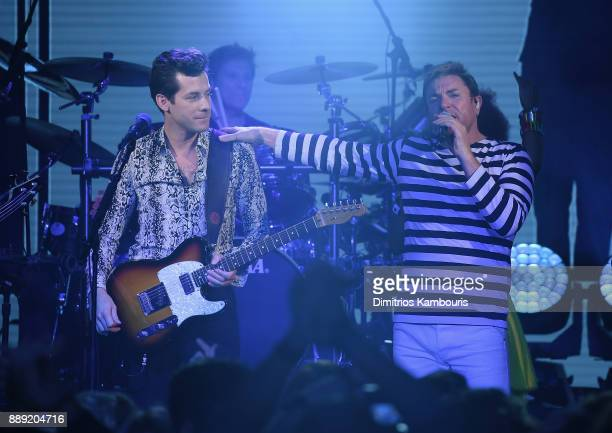 Mark Ronson and Simon Le Bon of Duran Duran Perform Live For SiriusXM At The Faena Theater In Miami Beach During Art Basel on December 9 2017 in...