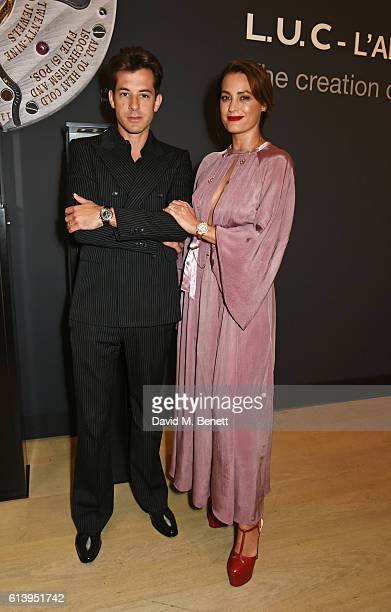 Mark Ronson and Yasmin Le Bon attend the cocktail opening of the Chopard exhibition 'LUC L'art d'une Manufacture' at Phillips Gallery on October 11...