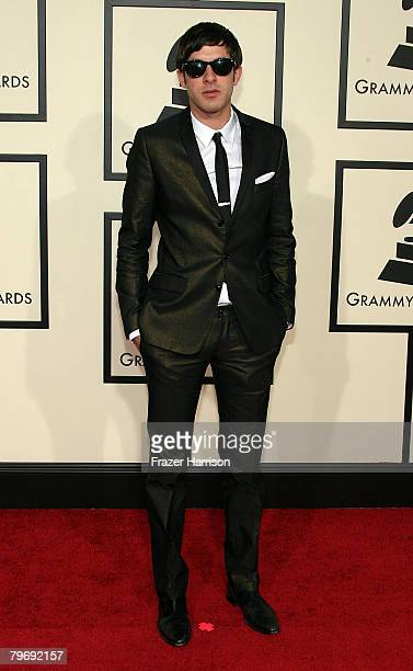 Mark Ronson arrives at the 50th annual Grammy awards held at the Staples Center on February 10 2008 in Los Angeles California