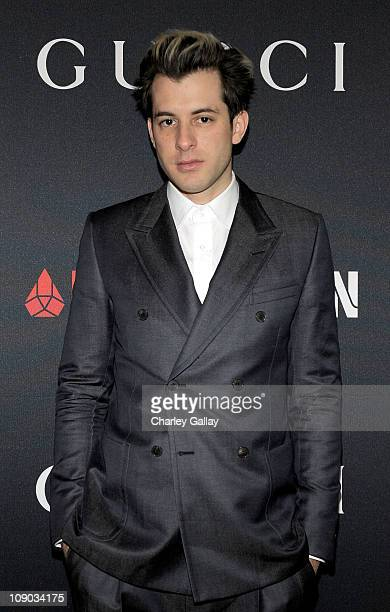 Mark Ronson arrives at the Gucci and RocNation PreGRAMMY brunch held at Soho House on February 12 2011 in West Hollywood California
