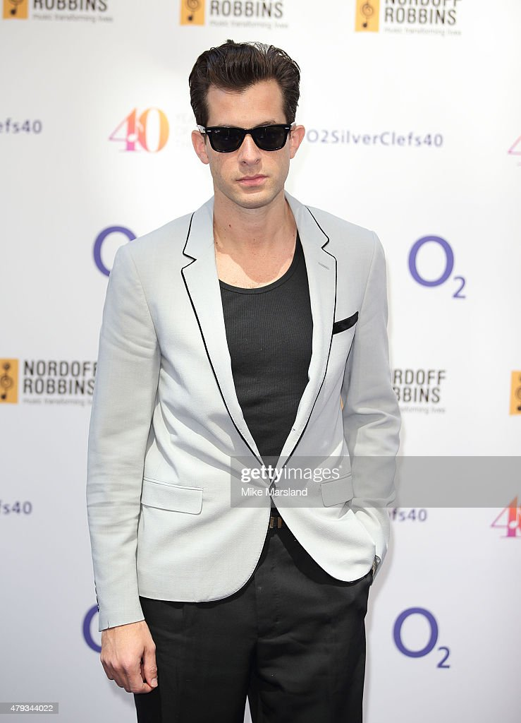 Mark Ronson arrives at the Nordoff Robbins O2 Silver Clef Awards at The Grosvenor House Hotel on July 3, 2015 in London, England.