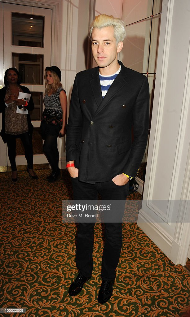 Mark Ronson arrives at The Q Awards 2010 at the Grosvenor House on October 25, 2010 in London, England.