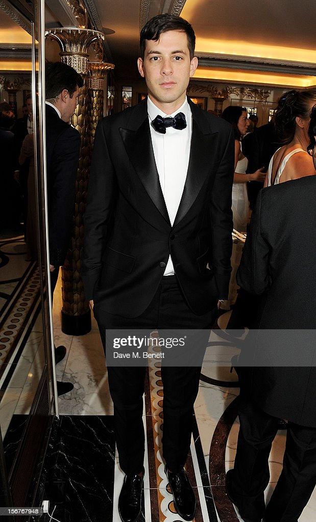 Mark Ronson attends a drinks reception at the Amy Winehouse Foundation Ball held at The Dorchester on November 20, 2012 in London, England.