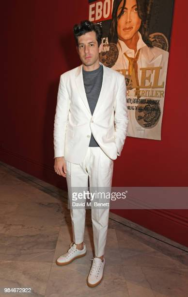 Mark Ronson attends a private view of the Michael Jackson On The Wall exhibition sponsored by HUGO BOSS at the National Portrait Gallery on June 26...