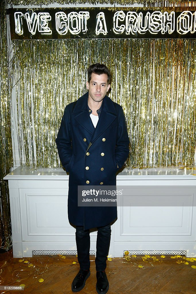 Mark Ronson attends Prom 2016 Party hosted by Coach for the Paris Flagship opening as part of the Paris Fashion Week Womenswear Fall/Winter 2016/2017 at Hotel Salomon de Rothschild on March 1, 2016 in Paris, France.