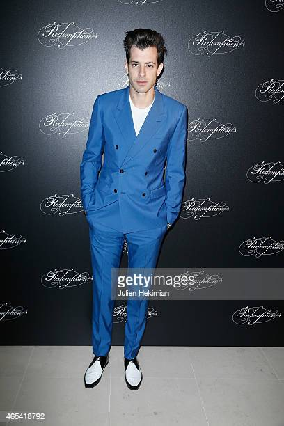 Mark Ronson attends 'Redemption' Dinner at Place Vendome as part of the Paris Fashion Week Womenswear Fall/Winter 2015/2016 on March 6 2015 in Paris...