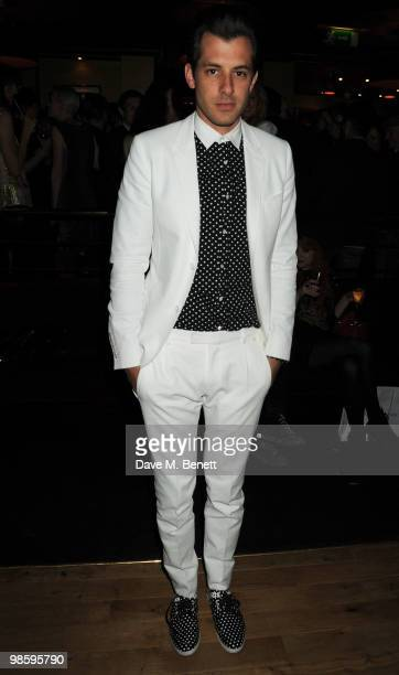 Mark Ronson attends the afterparty following the opening of Gucci's popup sneaker store at Ronnie Scott's on April 21 2010 in London England
