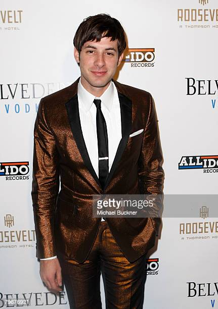 Mark Ronson attends the Allido Records' PreGrammy party hosted by Belvedere Vodka at the Roosevelt Hotel on February 8 2008 in Los Angeles California