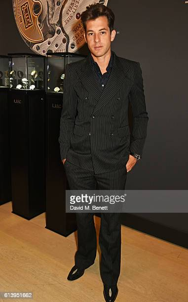 Mark Ronson attends the cocktail opening of the Chopard exhibition 'LUC L'art d'une Manufacture' at Phillips Gallery on October 11 2016 in London...
