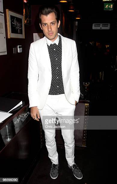 Mark Ronson attends the Gucci Icon Temporary store opening afterparty at Ronnie Scott's on April 21 2010 in London England