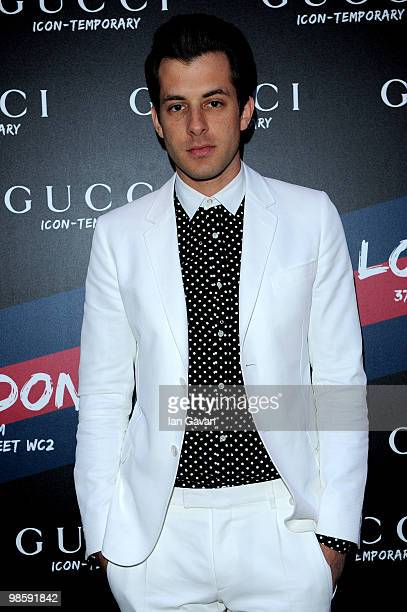 Mark Ronson attends the Gucci Icon Temporary store opening on April 21 2010 in London England