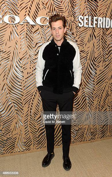 Mark Ronson attends the launch of Coach at Selfridges hosted by Stuart Vevers at Selfridges on September 18 2015 in London England