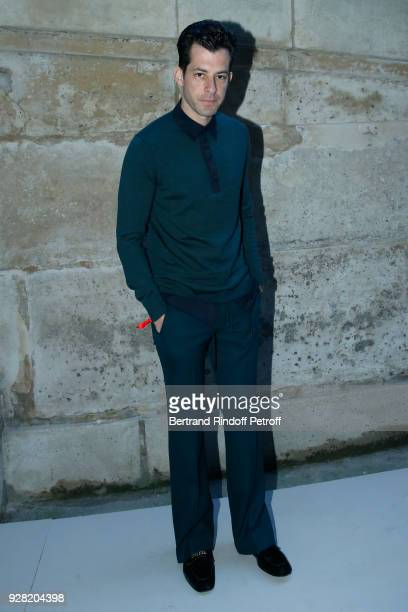 Mark Ronson attends the Louis Vuitton show as part of the Paris Fashion Week Womenswear Fall/Winter 2018/2019 on March 6 2018 in Paris France