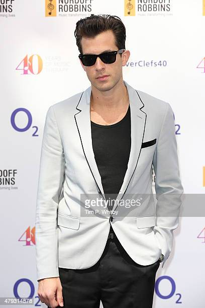 Mark Ronson attends the Nordoff Robbins 02 Silver clef Awards at The Grosvenor House Hotel on July 3 2015 in London England