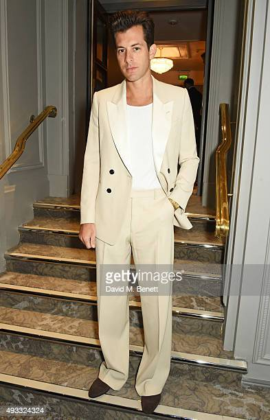 Mark Ronson attends The Q Awards drinks reception at The Grosvenor House Hotel on October 19 2015 in London England