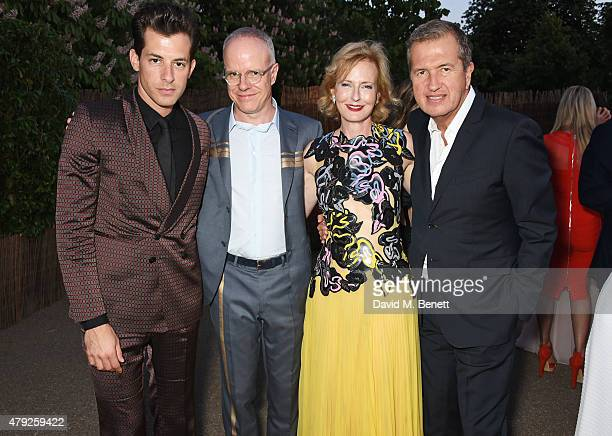 Mark Ronson CoDirector of the Serpentine Gallery HansUlrich Obrist and Julia PeytonJones and Mario Testino attend The Serpentine Gallery summer party...