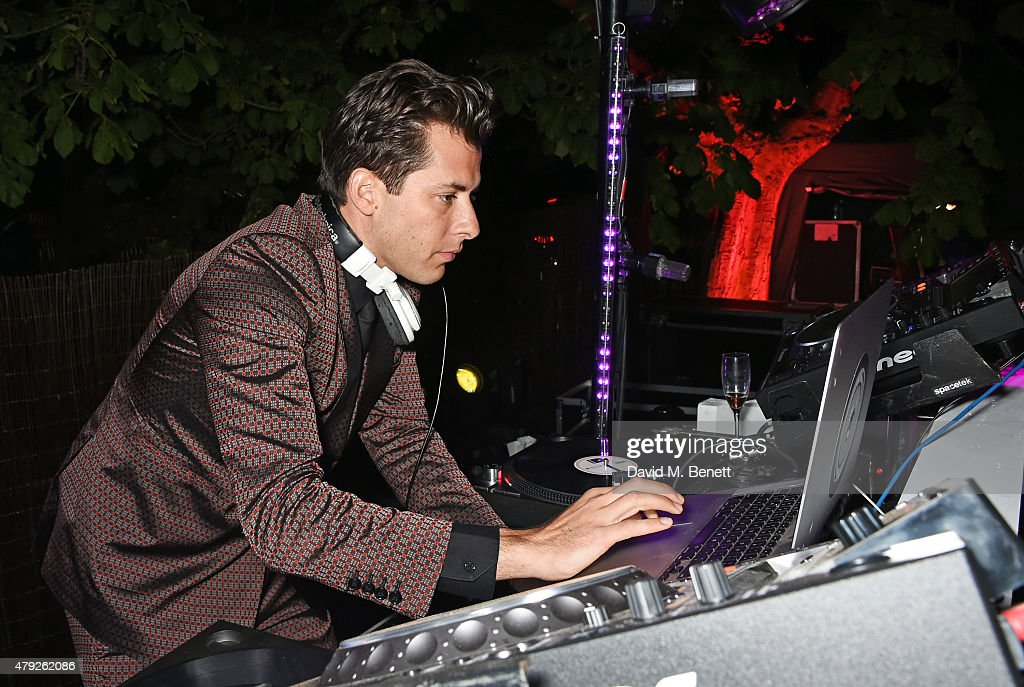 Mark Ronson DJs at The Serpentine Gallery summer party at The Serpentine Gallery on July 2, 2015 in London, England.