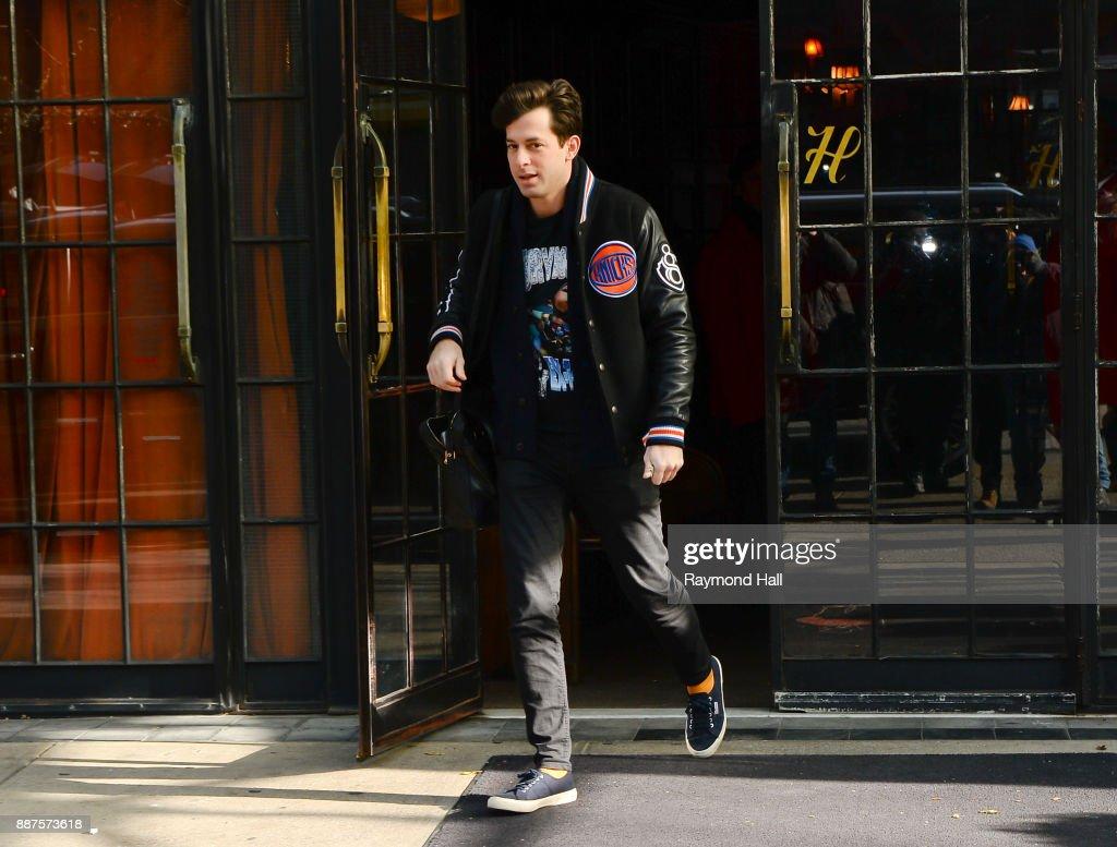 Mark Ronson is seen walking in Soho on December 6, 2017 in New York City.