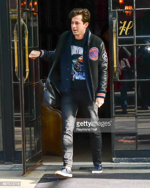 Mark Ronson is seen walking in Soho on December 6 2017 in New York City