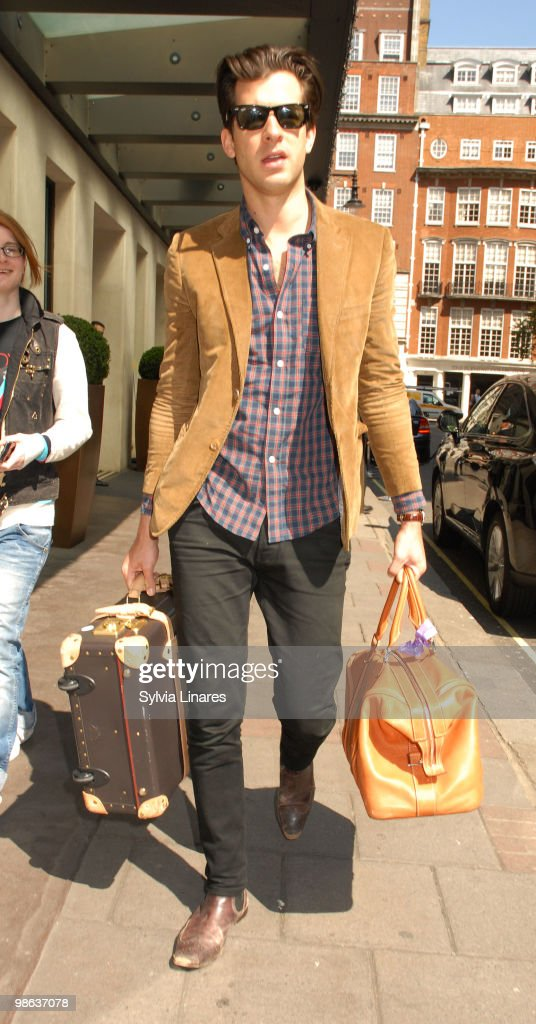 Mark Ronson is sighted leaving his hotel on April 23, 2010 in London, England.