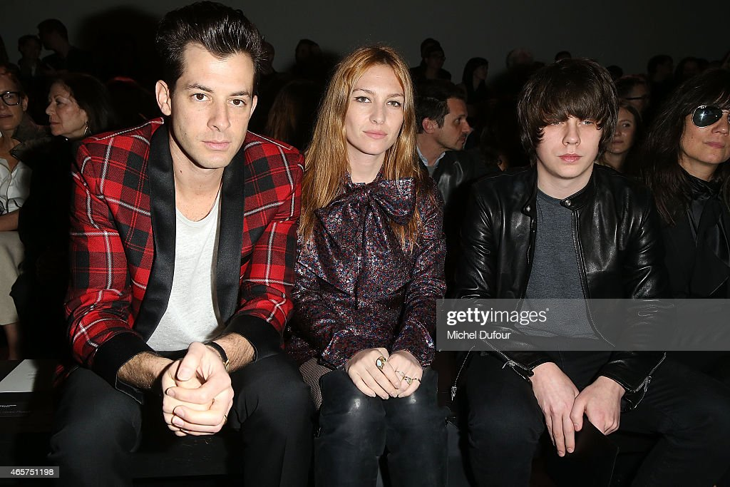 Mark Ronson, Josephine de la Baume and jack Bugg Attend the Saint Laurent show as part of the Paris Fashion Week Womenswear Fall/Winter 2015/2016 on March 9, 2015 in Paris, France.