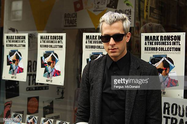 Mark Ronson of Mark Ronson and The Business Intl makes an in store appearance to promote the release of their new album 'Record Collection' held at...