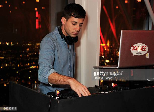 Mark Ronson performs at the opening of new restaurant SushiSamba London in Heron Tower on November 13 2012 in London England