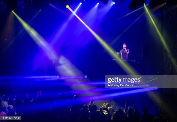 Mark Ronson performs at the Scarlet Night Party hosted by Virgin Voyages at PlayStation Theater on February 14 2019 in New York City