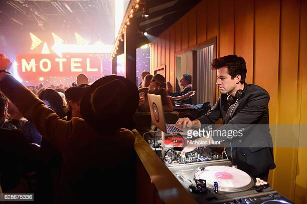 Mark Ronson performs during the Coach 75th Anniversary Party on December 8 2016 in New York City