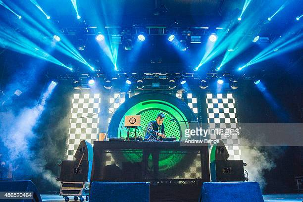 Mark Ronson performs on the main stage during day 2 of Festival No 6 on September 4, 2015 in Portmeirion, Wales.