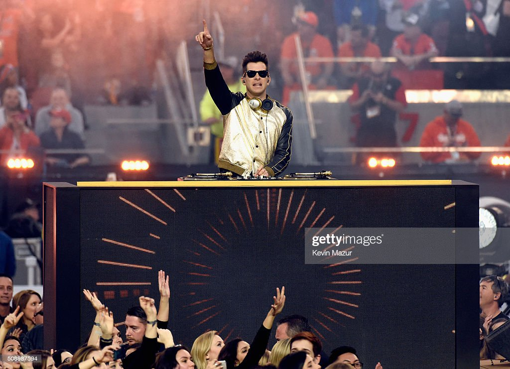 Mark Ronson performs onstage during the Pepsi Super Bowl 50 Halftime Show at Levi's Stadium on February 7, 2016 in Santa Clara, California.
