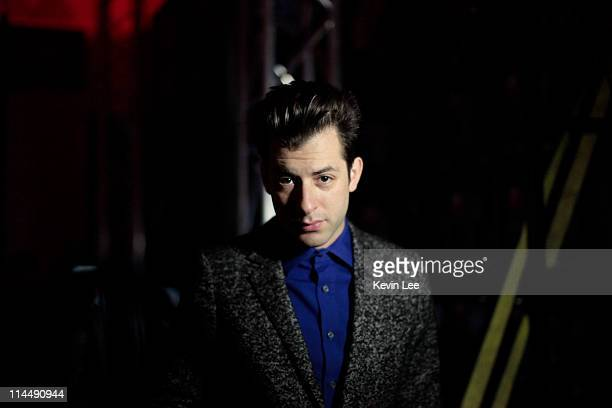 Mark Ronson pose for a picture at venue of the global tour of the Range Rover Evoque at the Waterhouse on May 21 2011 in Shanghai China