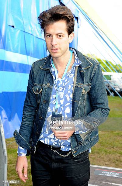 Mark Ronson poses backstage on day 1 of Parklife 2015 festival at Heaton Park on June 6 2015 in Manchester England
