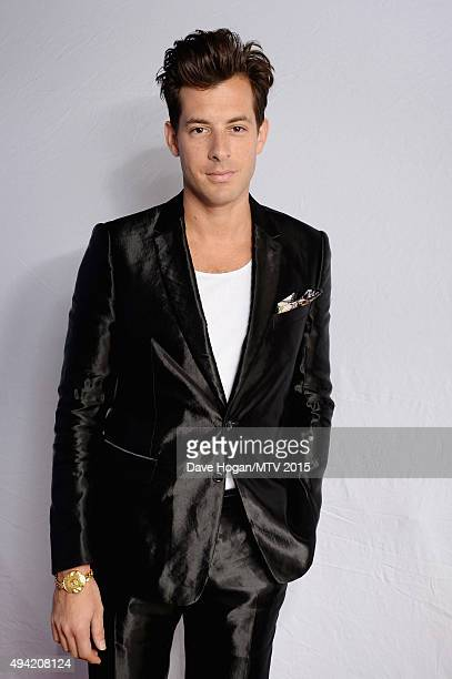 Mark Ronson poses for a portrait before the MTV EMA's at the Mediolanum Forum on October 25 2015 in Milan Italy