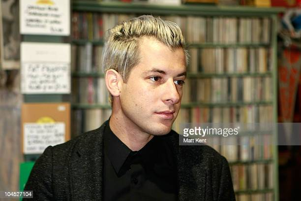 Mark Ronson promotes his new album 'Record Collection' at Rough Trade West on September 29 2010 in London England