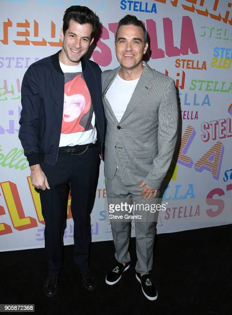 Mark Ronson Robbie Williams arrives at the Stella McCartney's Autumn 2018 Collection Launch on January 16 2018 in Los Angeles California