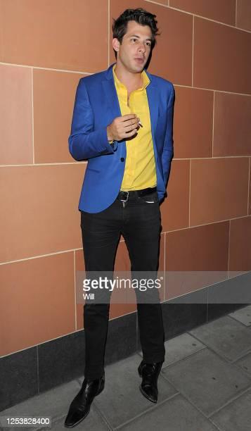 Mark Ronson smokes at Cipriani restaurant on May 28, 2009 in London, England.